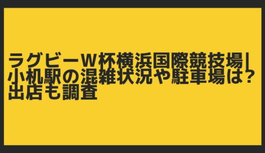 ラグビーW杯横浜国際競技場|小机駅の混雑状況や駐車場は?出店も調査