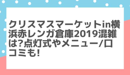 クリスマスマーケット横浜2019混雑は?点灯式やメニュー/口コミも!