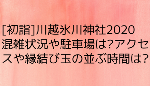 川越氷川神社初詣の混雑2020|駐車場やアクセス/縁結び玉並ぶ時間は?